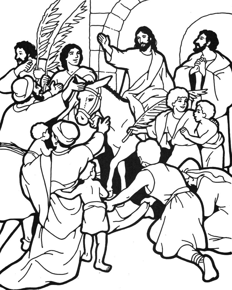 palm sunday coloring pages printable - photo#21