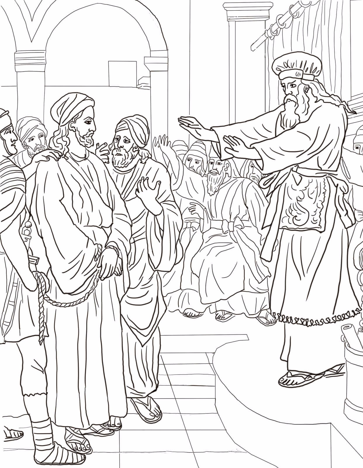 5-jesus-before-caiaphas-trial-coloring-page