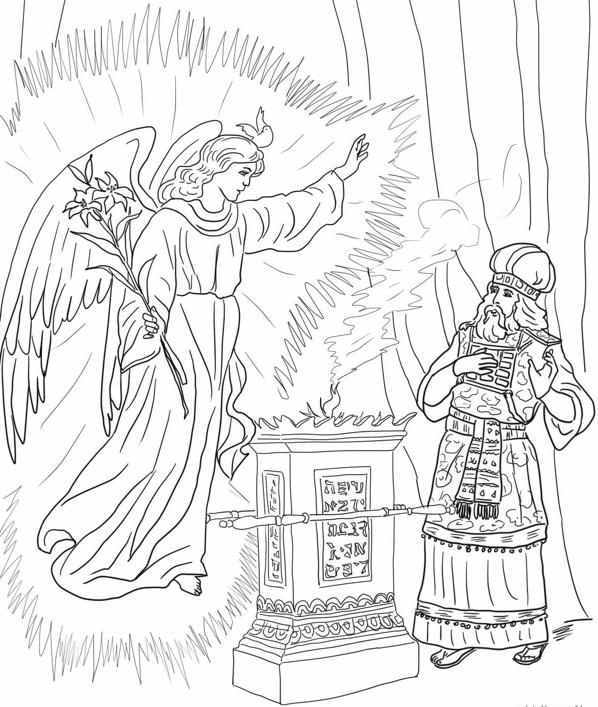 2-angel-visits-zechariah-coloring-page