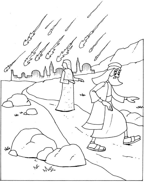 sodom and gomorrah coloring page - the rule of god is within you luke 17 1 37 st luke 39 s