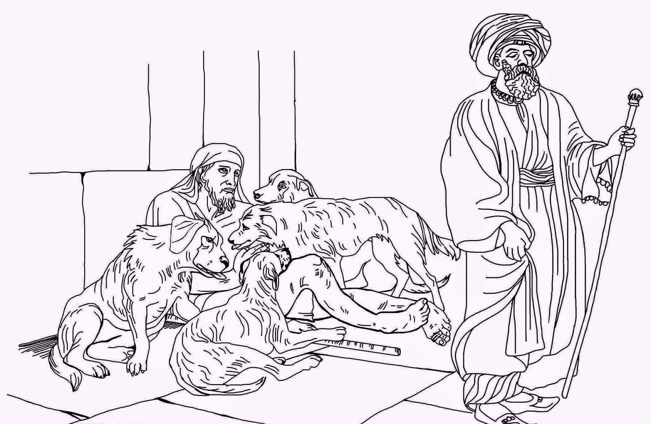 Rich Man And Lazarus Bible Coloring Page 1