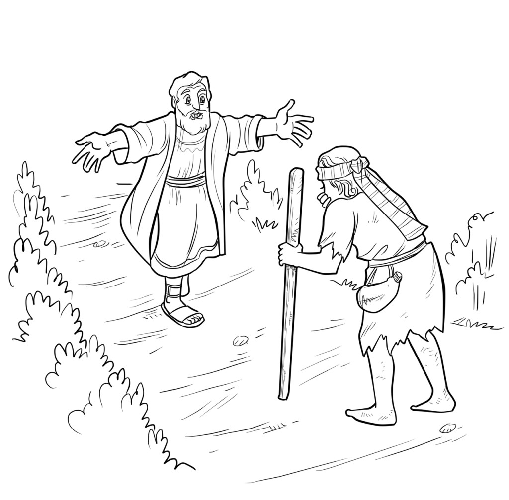 prodigal son coloring pages - photo#21