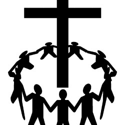 gathering-clipart-12776034-a-group-of-people-gathering-around-a-cross-Stock-Vector-worship-cross-praise