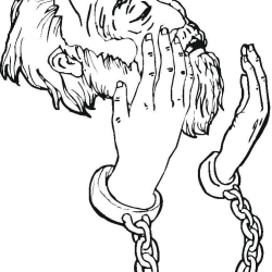 peter-in-prison-coloring-page