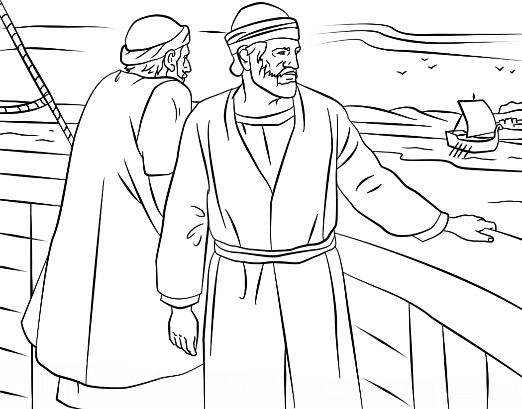Paul And Barnabas Coloring Page