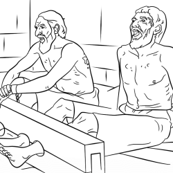 paul-silas-sing-in-prison-coloring-page
