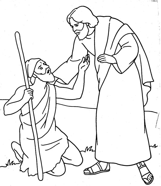 coloring pages healings of jesus - photo#28