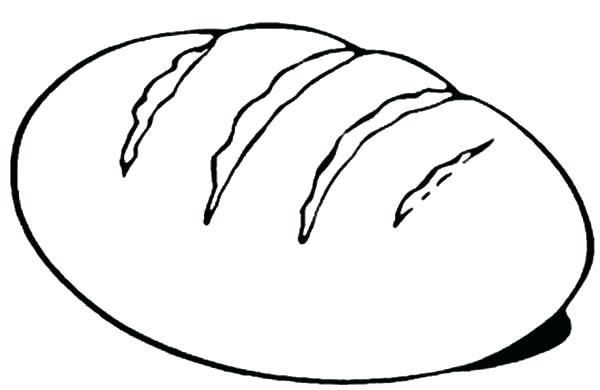 Bread Coloring Page Pin Colouring 1